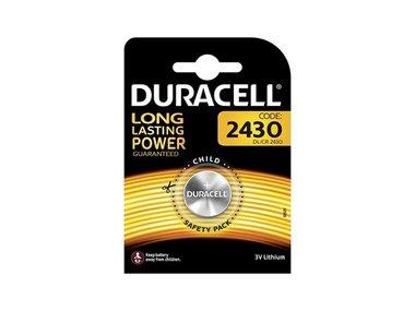 DURACELL - LITHIUM KNOOPCEL 3 V - DL2430 - 1  st. (BDCR2430-BL1)