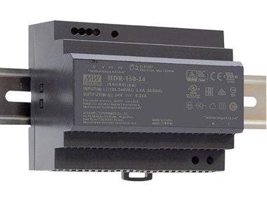 VOEDING - 1 UITGANG - 150 W - DIN-RAILMONTAGE - 24 V - VOOR INDUSTRIEEL GEBRUIK (HDR-150-24)