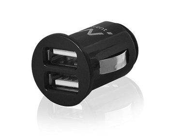 EWENT - 2-POORTS USB MINI AUTOLADER - 2.1 A (EM1220)