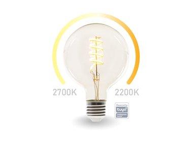SMART WIFI-LEDLAMP - WARMWIT & INTENS WARMWIT - E27 - G125 (SMART1213)