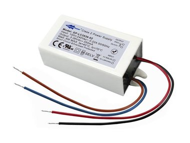 SCHAKELENDE LED-VOEDING - 1 UITGANG - 8 W - 350 mA - 3 ~ 36 VDC - CONSTANTE STROOM (GP-LC3536-02)