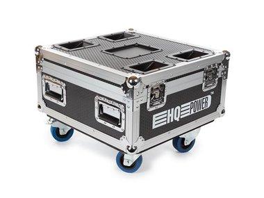 FLIGHTCASE MET 6 x HQLP10030 LED-VLOERSPOT MET ACCU (HQLP10030/6)