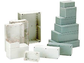 WATERDICHTE BEHUIZING IN POLYCARBONAAT - LICHTGRIJS - 195 x 80 x 55 mm (G229)