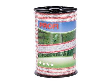 Profi afrasteringsband 12mm, 4x0,30 TriC, 200m, wit/rood (COR59500)