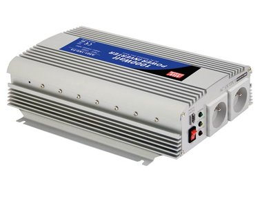 MEAN WELL - DC-AC INVERTER MET GEMODIFICEERDE SINUSGOLF - 1000 W - PENAARDE (A301-1K0-TE)