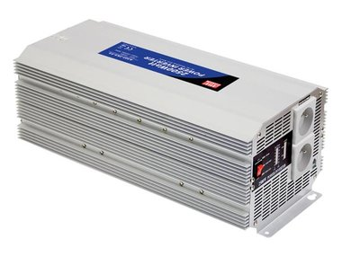MEAN WELL - DC-AC INVERTER MET GEMODIFICEERDE SINUSGOLF - 2500 W - PENAARDE (A301-2K5-TE)