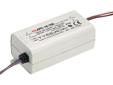 LED-DRIVER MET CONSTANTE STROOM - 1 UITGANG - 700 mA - 16 W (APC-16-700)
