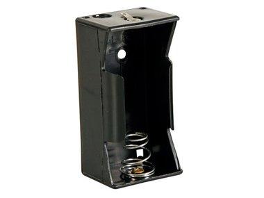 BATTERIJHOUDER VOOR 1 x D-CEL (MET SOLDEERLIPPEN) (BH111D)
