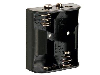 BATTERIJHOUDER VOOR 2 x C-CEL (VOOR BATTERIJCLIPS) (BH221B)
