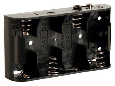 BATTERIJHOUDER VOOR 4 x C-CEL (VOOR BATTERIJCLIPS) (BH243B)