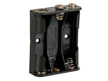 BATTERIJHOUDER VOOR 3 x AA-CEL (VOOR BATTERIJCLIPS) (BH331B)