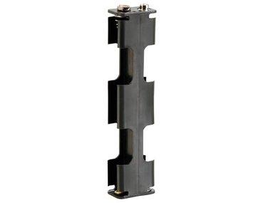BATTERIJHOUDER VOOR 4 x AA-CEL (VOOR BATTERIJCLIPS) (BH342B)