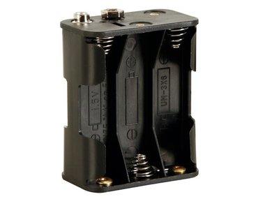 BATTERIJHOUDER VOOR 6 x AA-CEL (VOOR BATTERIJCLIPS) (BH363B)