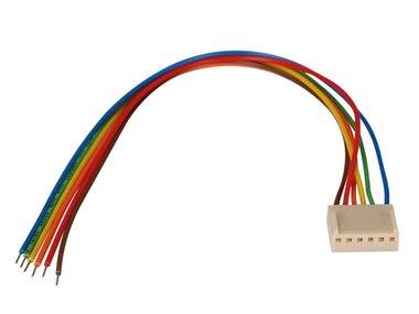 PRINTCONNECTOR - VROUWELIJK - 6 CONTACTEN / 20cm (BTWF6)