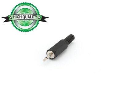 MANNELIJKE 2.5mm MONO JACK - PLASTIC ZWART (CA001H) per 10st