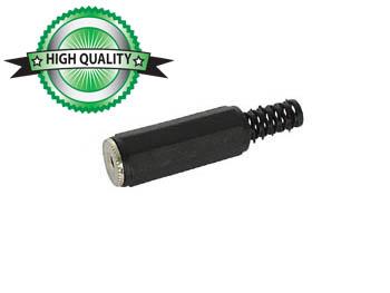 VROUWELIJKE 2.5mm STEREO JACK - PLASTIC ZWART (CA008) per 25st