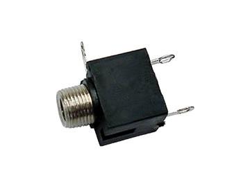 VROUWELIJKE 3.5mm MONO JACK - CHASSISMONTAGE ZWART (CA016) per 25st