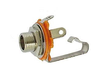 VROUWELIJKE 6.35mm MONO JACK  - OPEN CIRCUIT - CHASSISMONTAGE (CA039) per 25st