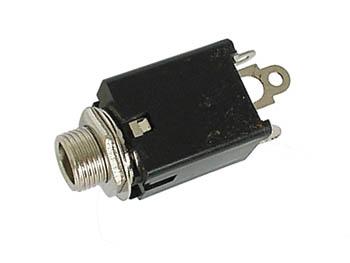 VROUWELIJKE 6.35mm STEREO JACK - MET SCHAKELAAR (CA044) per 25st
