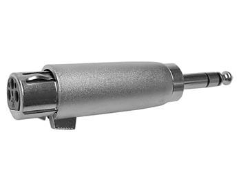3P XLR VROUWELIJKE PLUG NAAR MANNELIJKE 6.35mm STEREO JACKPLUG (CAA05)