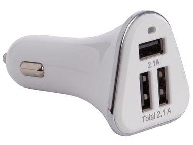 AUTOLADER MET 3 USB-POORTEN (5VDC - 4.2A) - 21W max. (CARSUSB26)