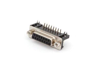 VROUWELIJKE 15P SUB-D CONNECTOR - PRINTMONTAGE (CC020) per 10st