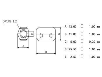 FILTER VOOR VOEDINGSKABELS Ø5.0mm (CF5A)
