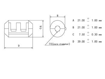 FILTER VOOR VOEDINGSKABELS Ø7.5mm (CF75A)