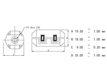 FILTER VOOR VOEDINGSKABELS Ø9.0mm (CF9A)