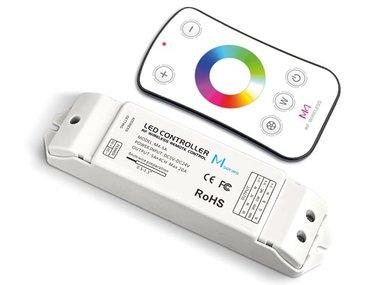 RGBW LED CONTROLLER - MET RF-AFSTANDSBEDIENING (CHLSC16)