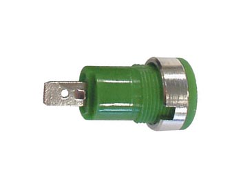 IEC1010 BINDING POST, FASTON - GREEN (CM17G) per 5st
