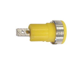 IEC1010 BINDING POST, FASTON - YELLOW (CM17Y) per 5st