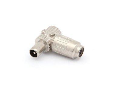 HAAKSE TV-PLUG 9.5mm/2.3mm - MANNELIJK - METAAL (CV001M) per 5st