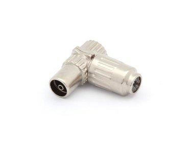 HAAKSE TV-PLUG 9.5mm/2.3mm - VROUWELIJK - METAAL (CV002M) per 5st