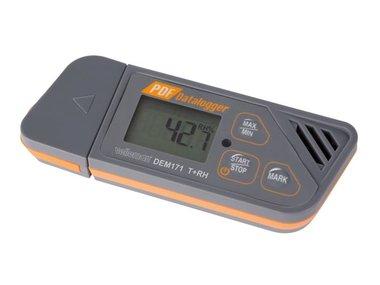 DATALOGGER VOOR TEMPERATUUR EN VOCHTIGHEIDSGRAAD MET USB-UITGANG (plug & play) (DEM171)