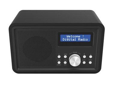 DAB-35BLACK - DAB+/FM-RADIO - HOUTEN BEHUIZING - ZWART (DV-10504)