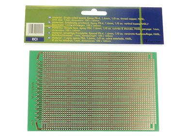 EUROCARD IC PATROON - 100x160mm - FR4 (1st./bl.) (ECI)