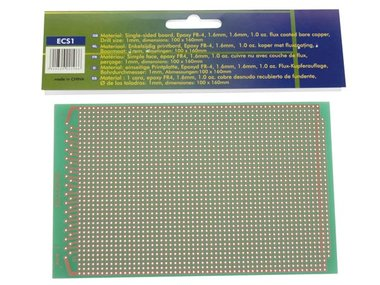 EUROCARD 1 GAT PER EILAND - 100x160mm - FR4 (1st./bl.) (ECS1)