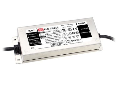 SCHAKELENDE VOEDING  - 1 UITGANG - 75 W - 24 V (ELG-75-24A)