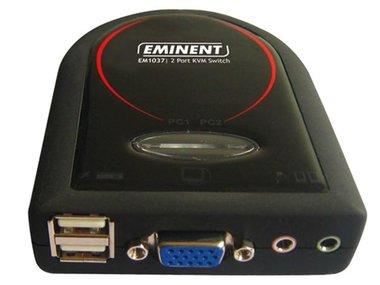 EMINENT - 2 POORTS KVM-SWITCH MET AUDIO-ONDERSTEUNING (EM1037)