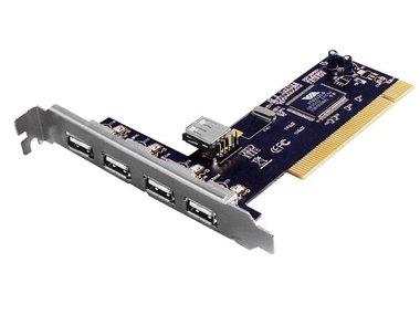 EMINENT - 4+1-POORTS PCI-KAART USB 2.0 (EM1105)