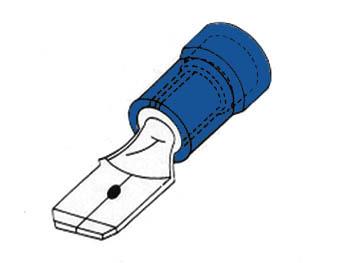 MANNELIJKE CONNECTOR 6.4mm BLAUW (FBM)