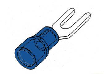 BLAUWE KABELSCHOEN 6.4mm (FBY6)
