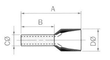 ADEREINDHULS - 0.50mm² (WIT) (FCEW)
