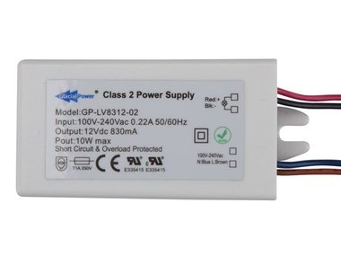 LED-VOEDING - 1 UITGANG - 12 VDC - 10 W (GP-LV8312-02)