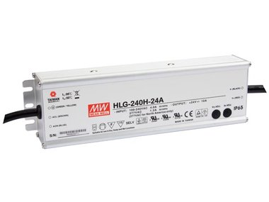 SCHAKELENDE VOEDING - 1 UITGANG - 240 W - 24 V (HLG-240H-24A)