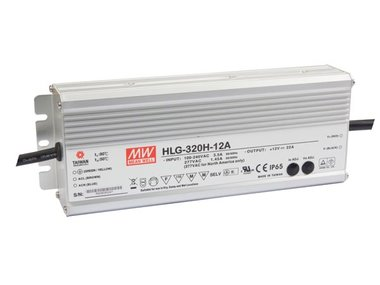 SCHAKELENDE VOEDING - 1 UITGANG - 320W - 12 V (HLG-320H-12A)