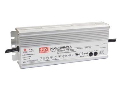 SCHAKELENDE VOEDING - 1 UITGANG - 320 W - 24 V (HLG-320H-24A)