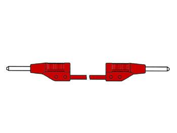 SPUITGEGOTEN MEETSNOER 2mm 25cm / ROOD (MVL 2/25) (HM021025)