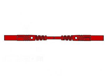 SPUITGEGOTEN MEETSNOER MET CONTACTBEVEILIGING 4mm 25cm / ROOD (MLB/GG-SH 25/1) (HM0411S25)